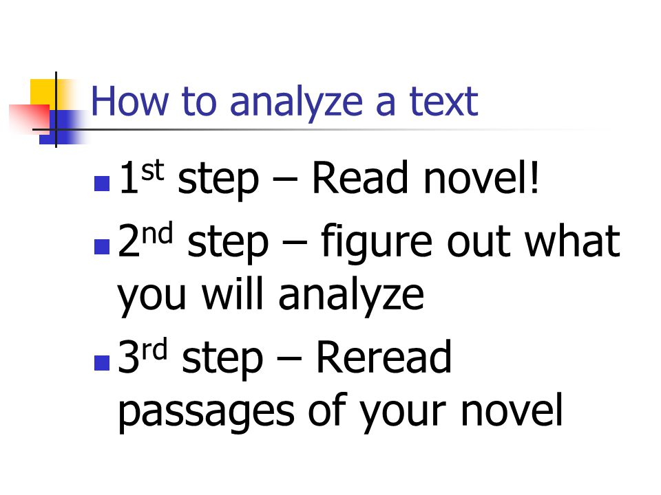 2nd step – figure out what you will analyze