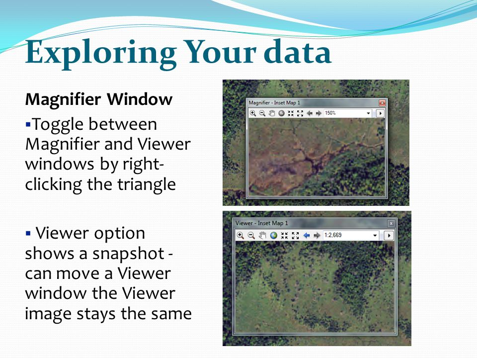 Exploring Your data Magnifier Window