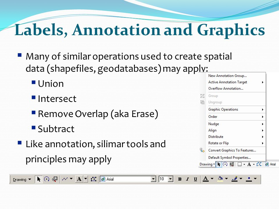 Labels, Annotation and Graphics