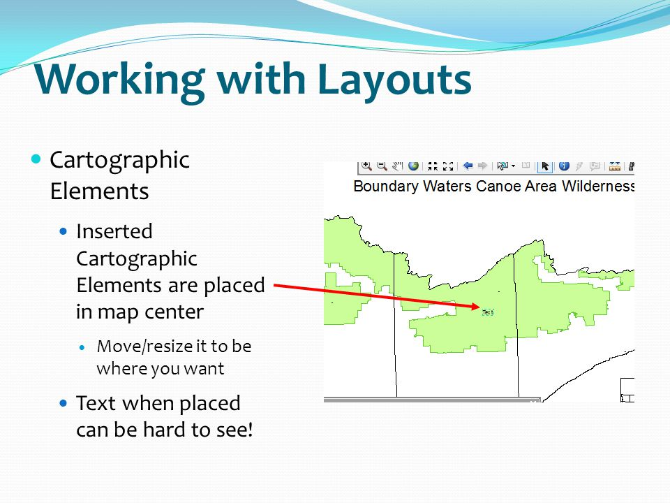 Working with Layouts Cartographic Elements