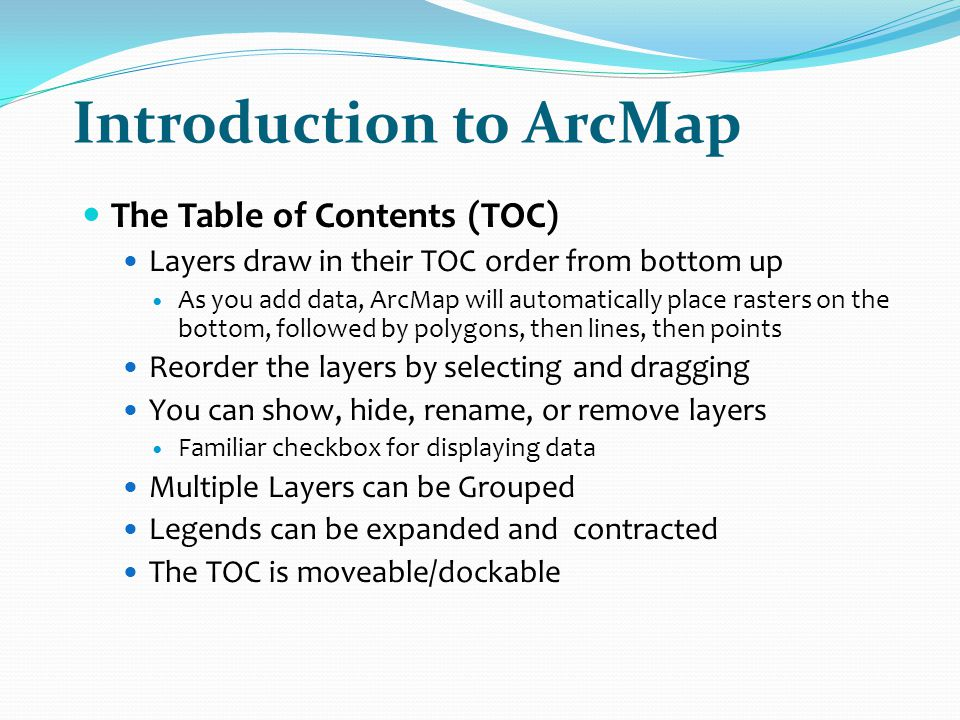 Introduction to ArcMap