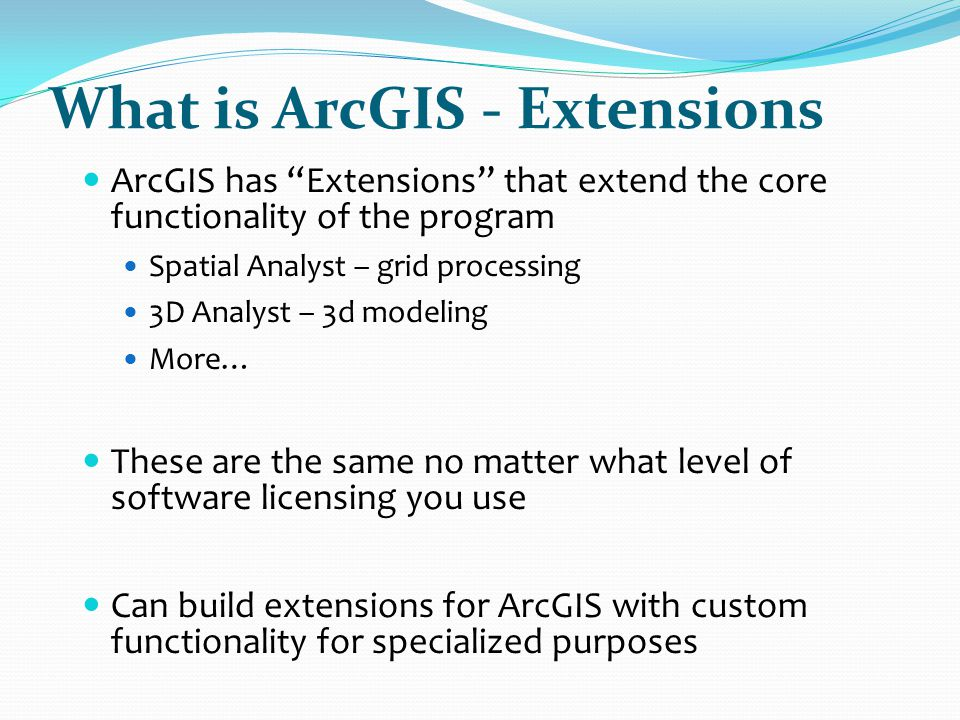 What is ArcGIS - Extensions