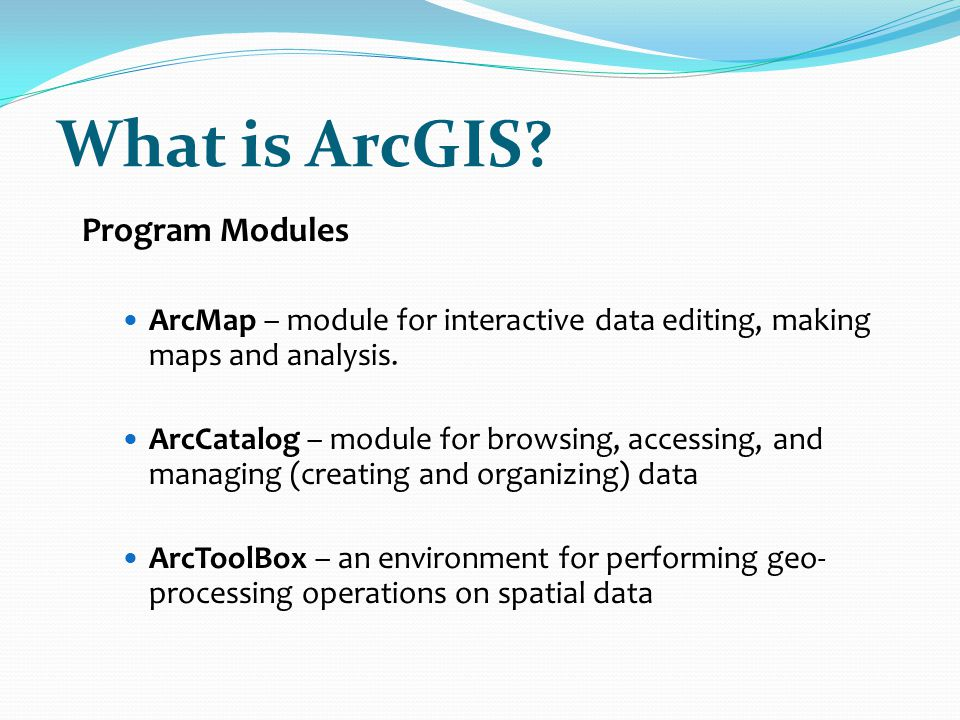 What is ArcGIS Program Modules