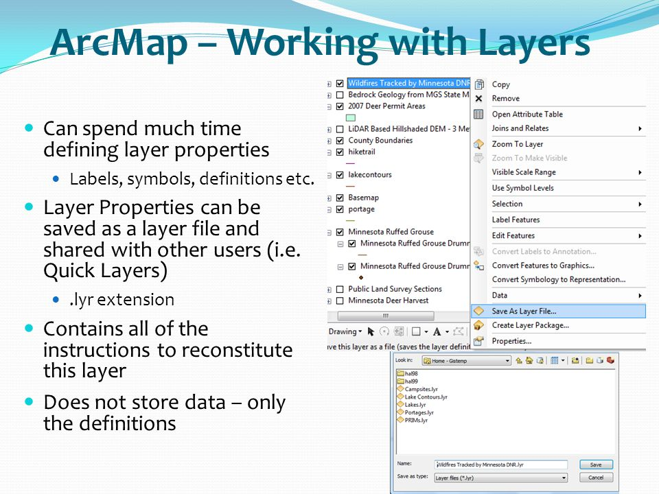 ArcMap – Working with Layers