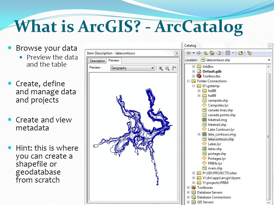 What is ArcGIS - ArcCatalog