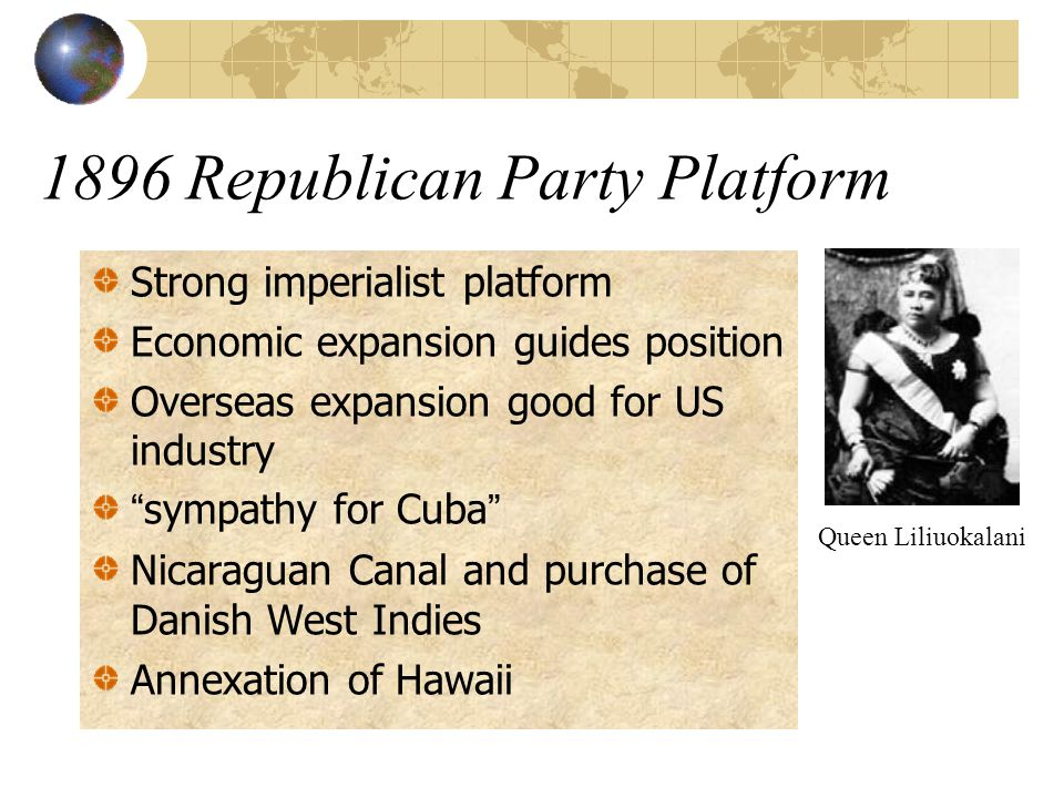 1896 Republican Party Platform