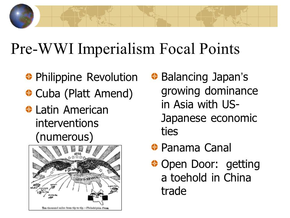 Pre-WWI Imperialism Focal Points