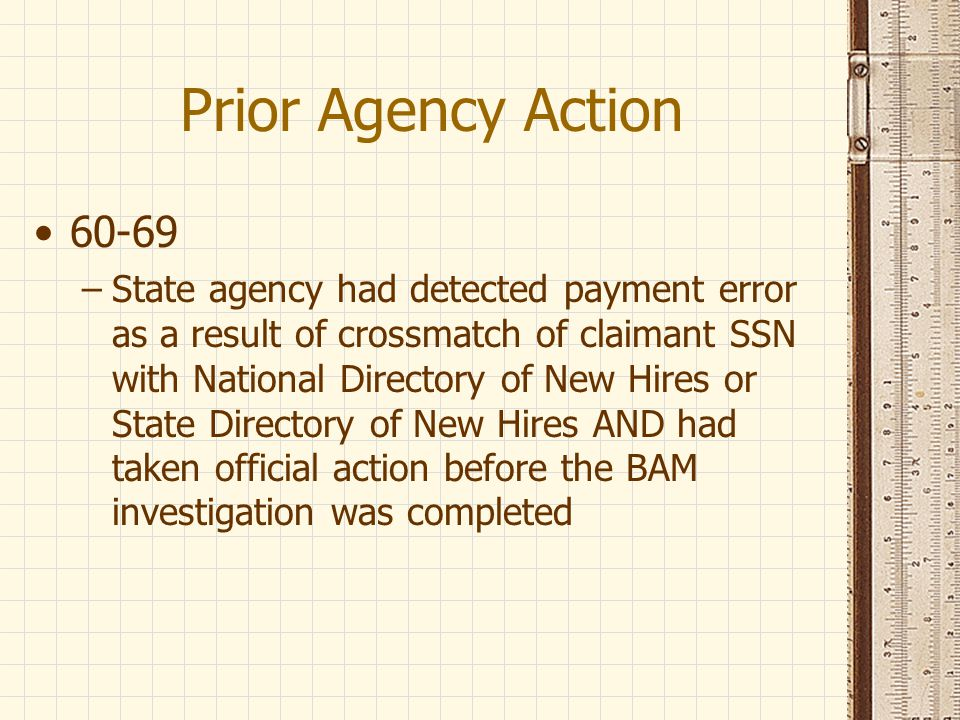 Prior Agency Action 60-69.