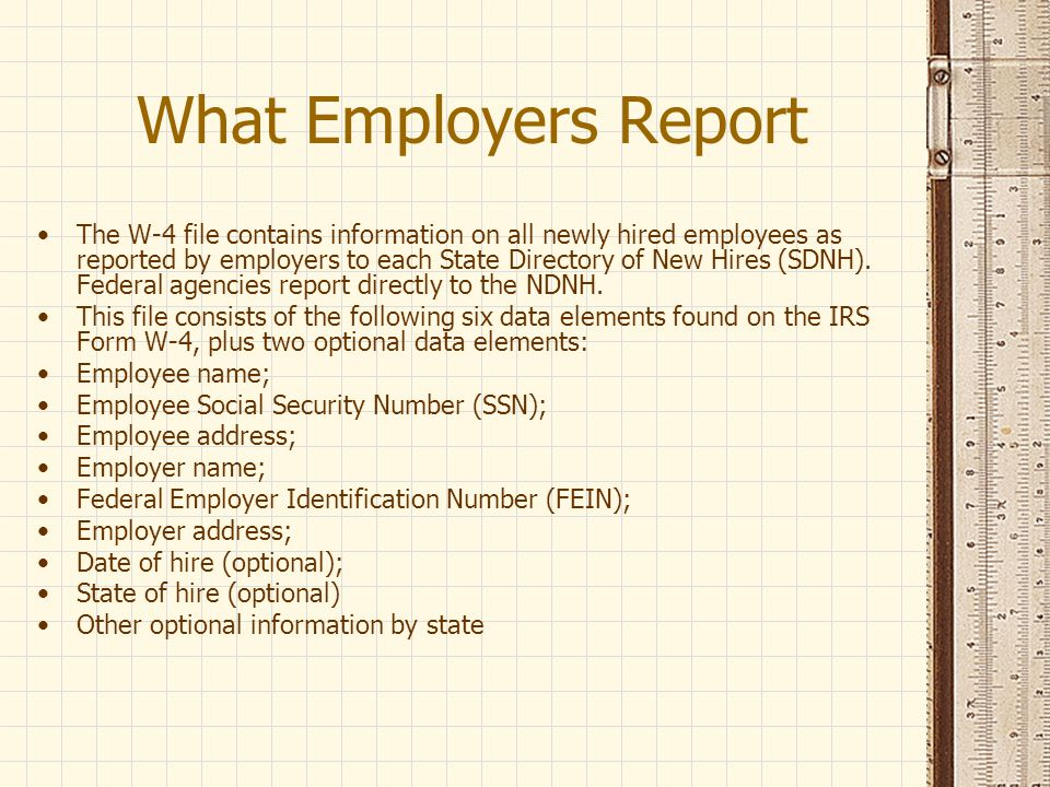What Employers Report