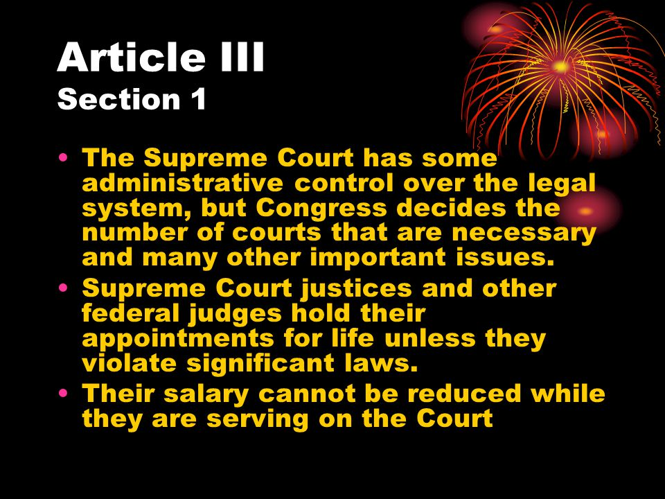 Article III Section 1