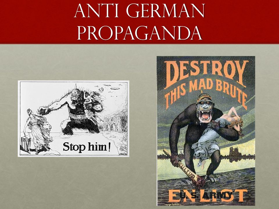 Anti German Propaganda