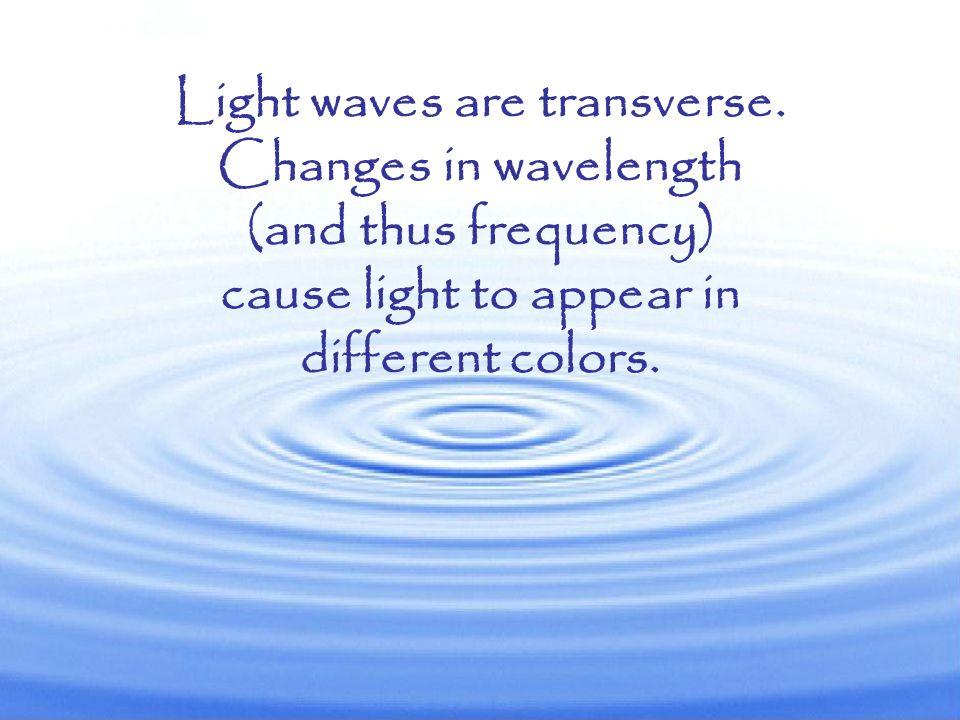 Light waves are transverse