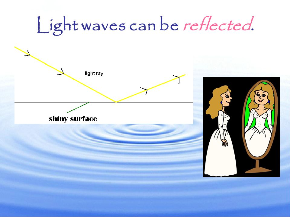 Light waves can be reflected.