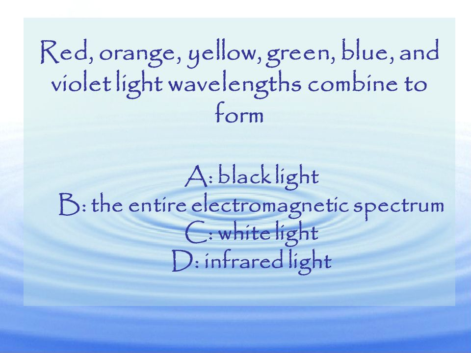 B: the entire electromagnetic spectrum