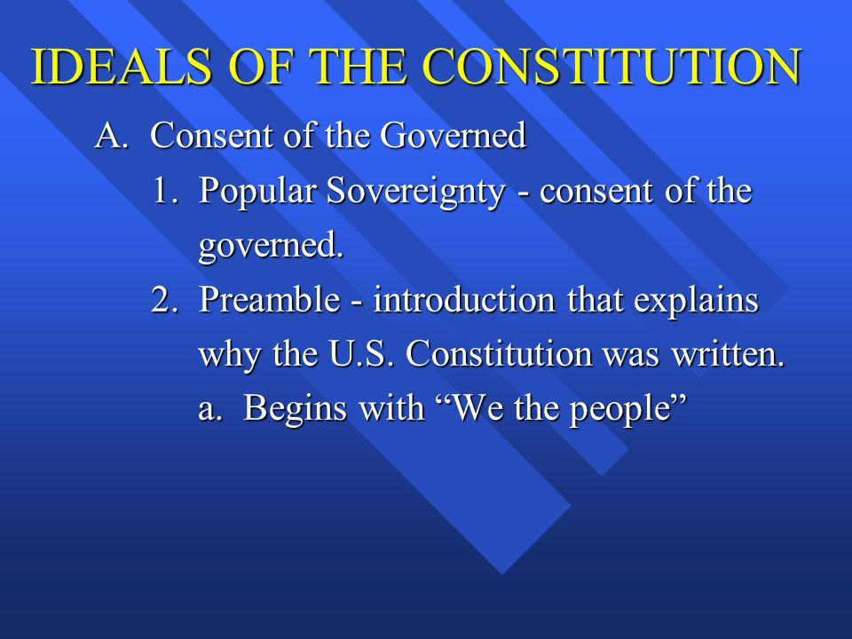 IDEALS OF THE CONSTITUTION