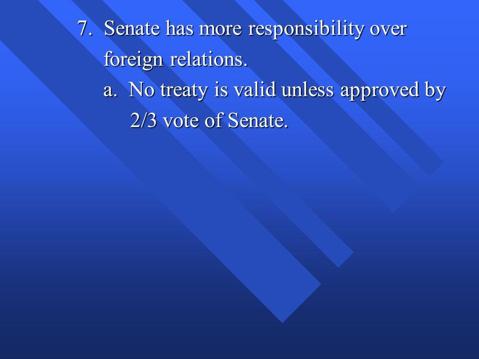 7. Senate has more responsibility over
