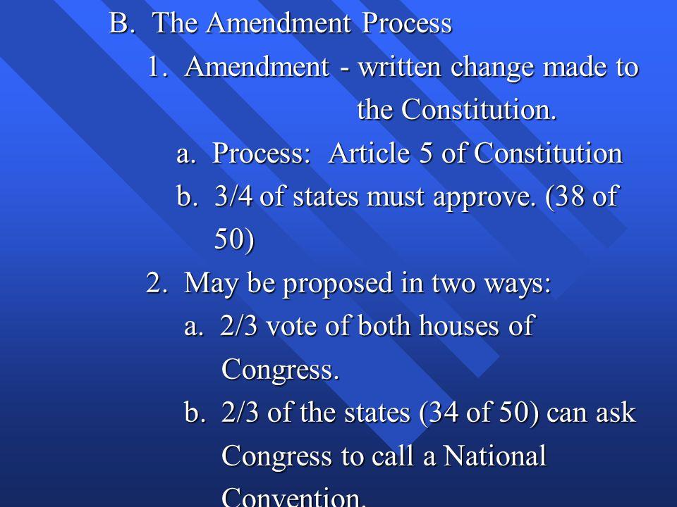 B. The Amendment Process