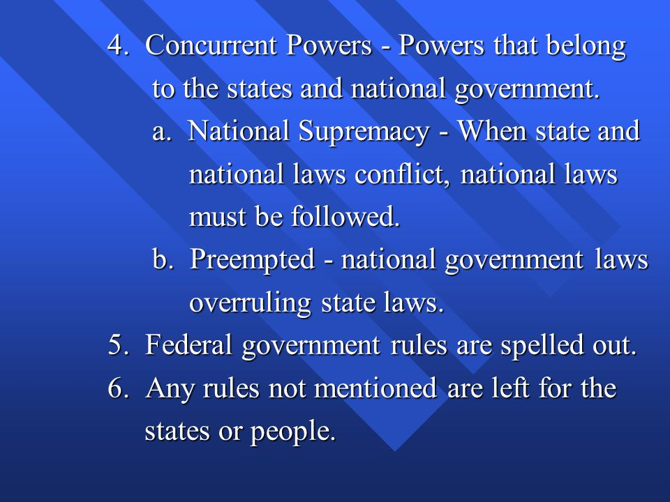 4. Concurrent Powers - Powers that belong