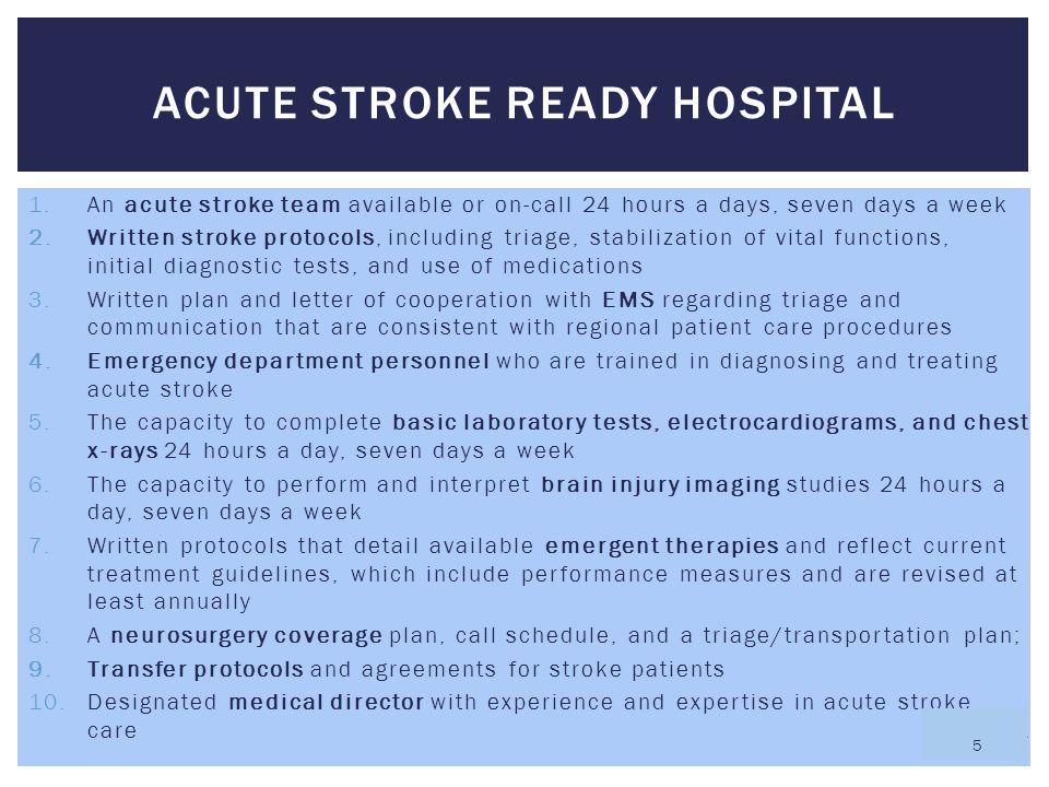 Acute Stroke Ready Hospital