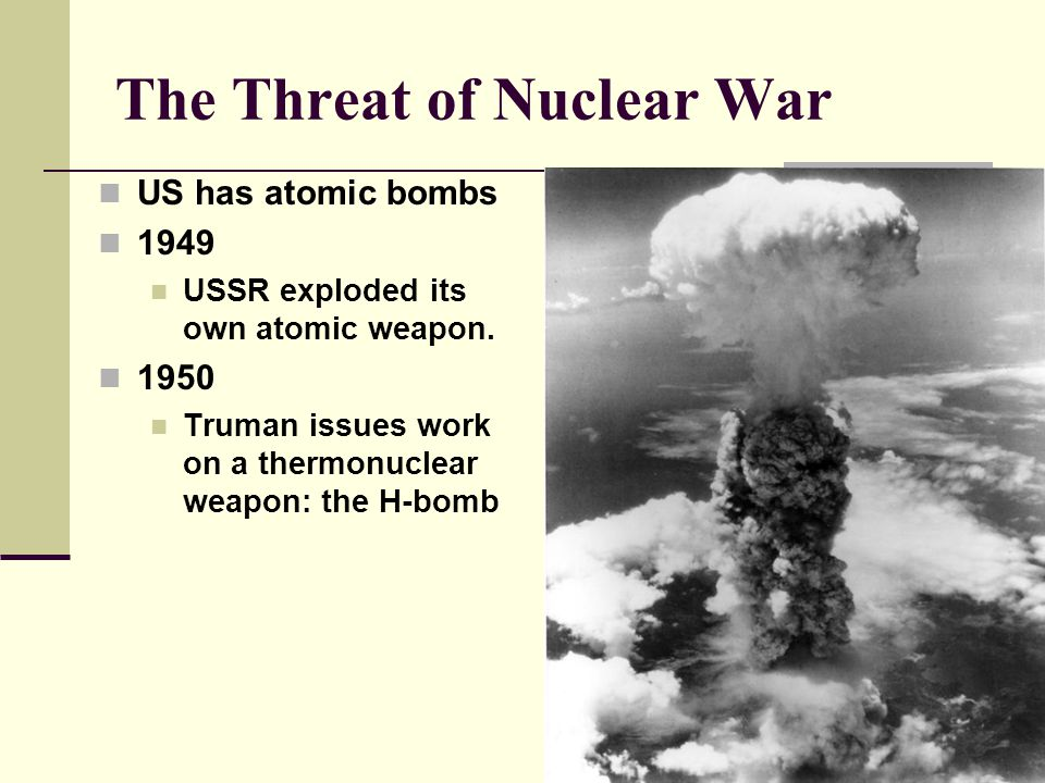 The Threat of Nuclear War