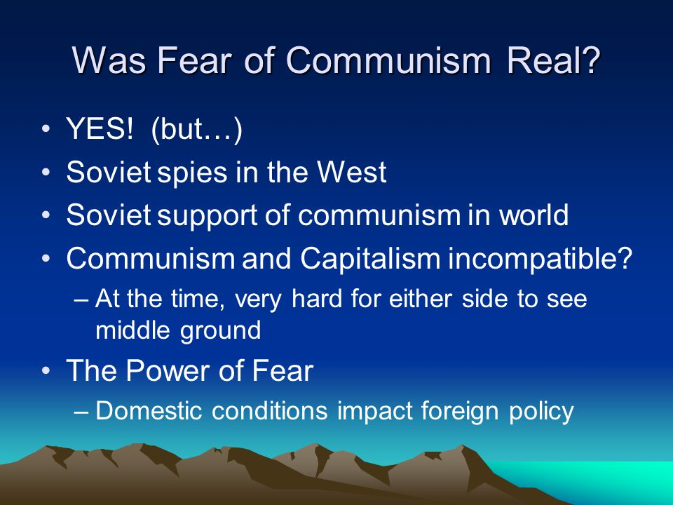 Was Fear of Communism Real