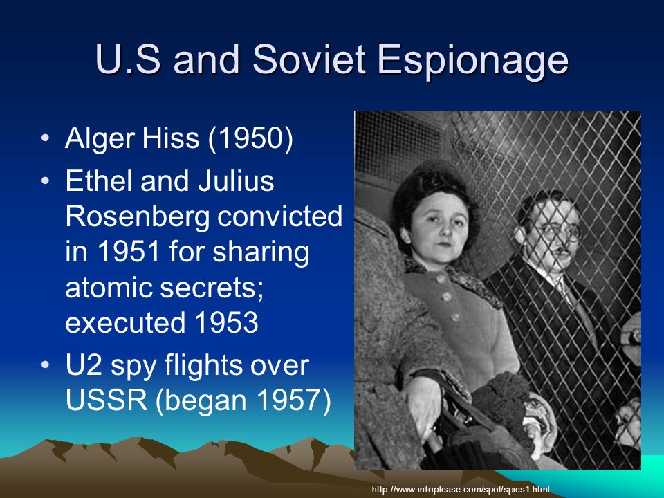 U.S and Soviet Espionage