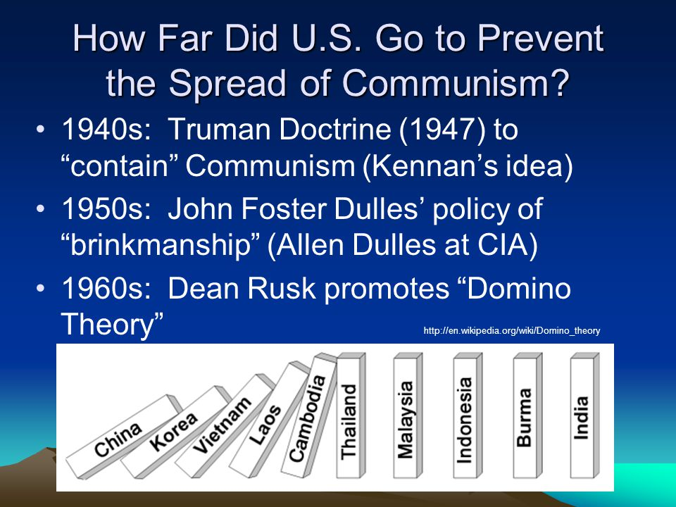 How Far Did U.S. Go to Prevent the Spread of Communism