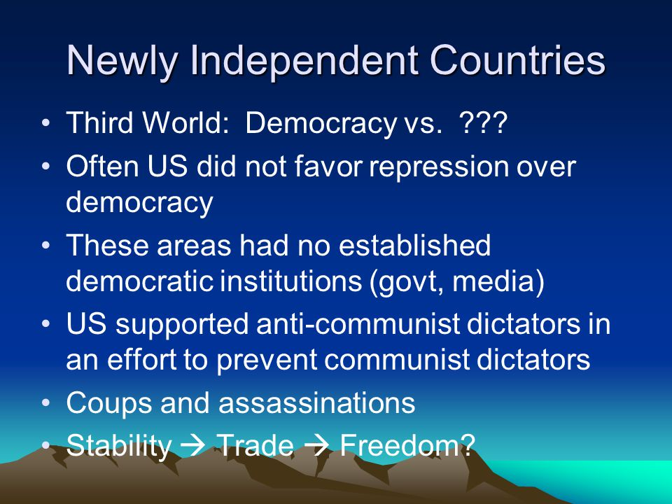 Newly Independent Countries
