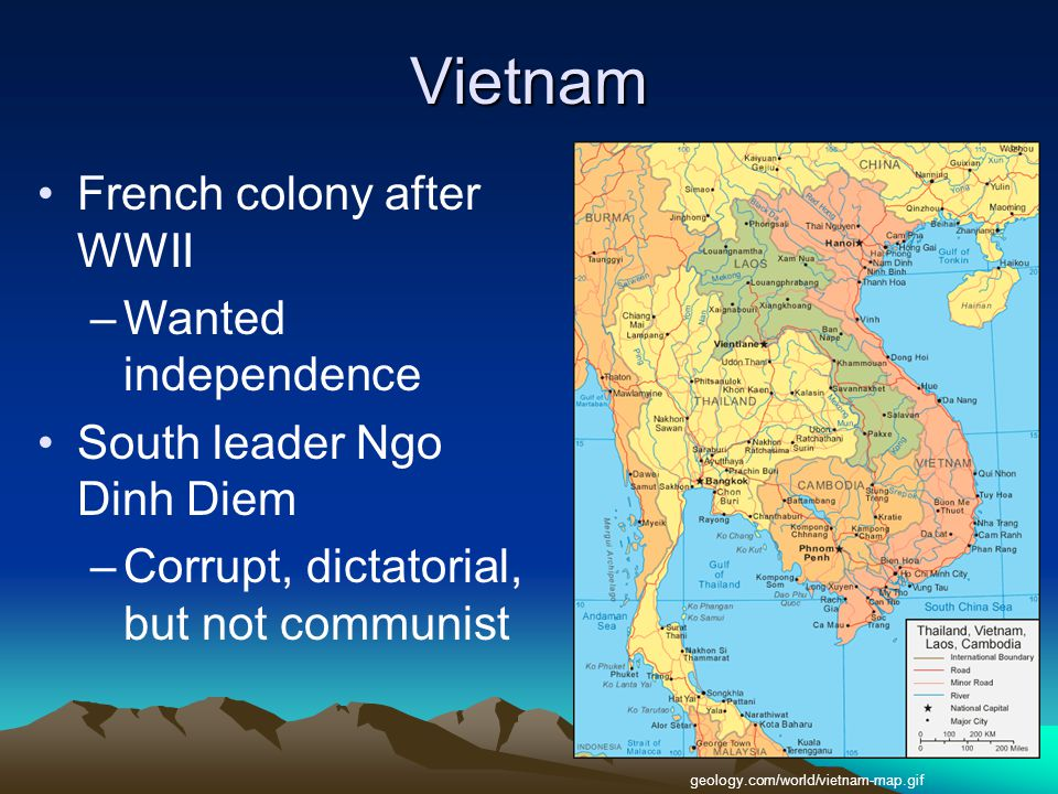 Vietnam French colony after WWII Wanted independence