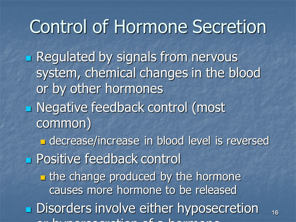 Control of Hormone Secretion