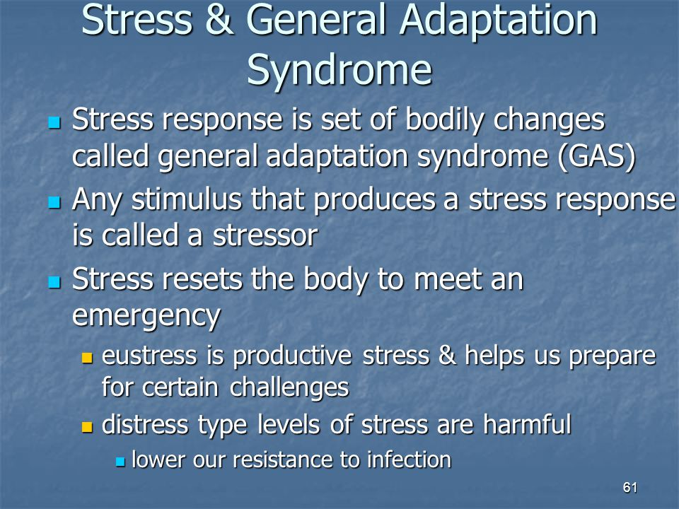 Stress & General Adaptation Syndrome