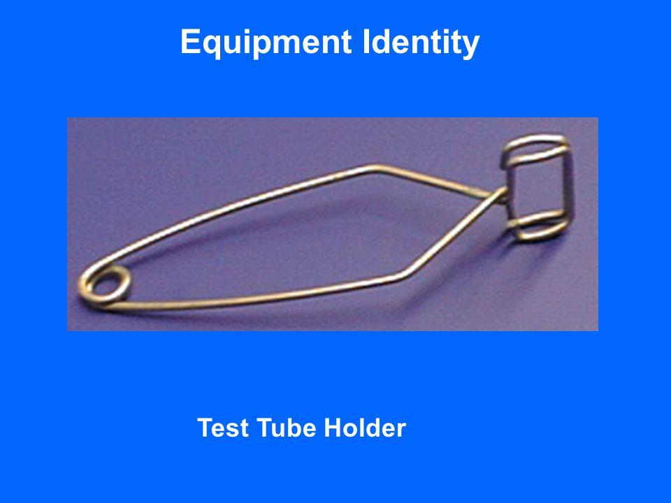Equipment Identity Test Tube Holder