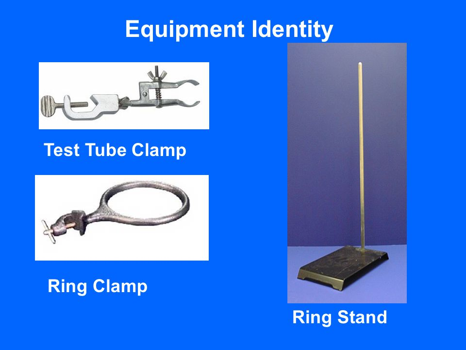 Equipment Identity Test Tube Clamp Ring Clamp Ring Stand