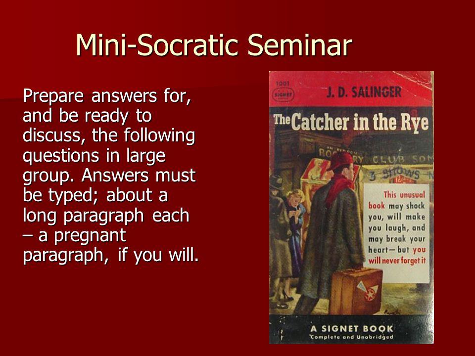 Mini-Socratic Seminar