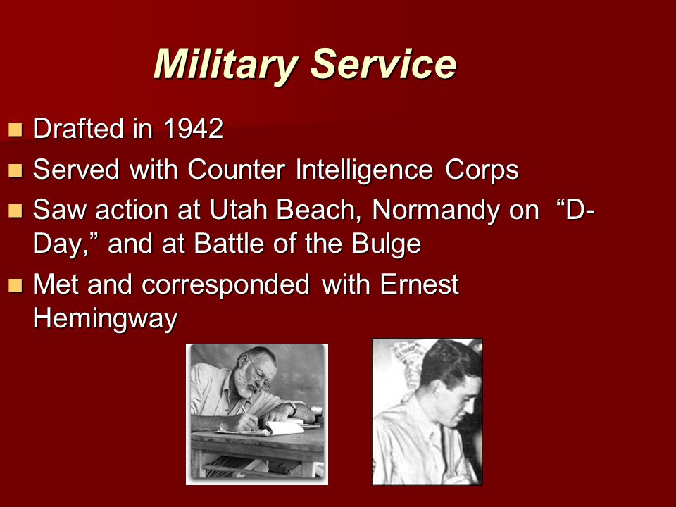 Military Service Drafted in 1942