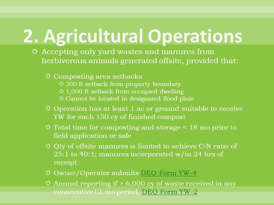 2. Agricultural Operations
