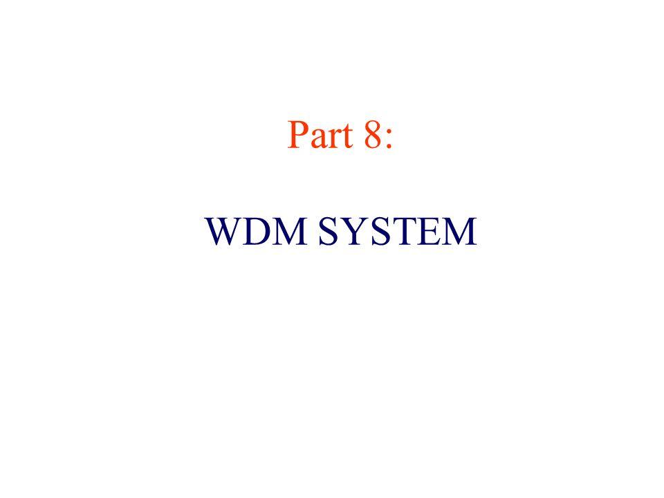 Part 8: WDM SYSTEM