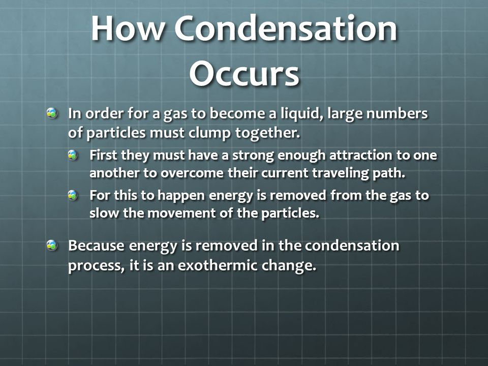 How Condensation Occurs