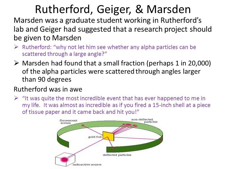 Rutherford, Geiger, & Marsden