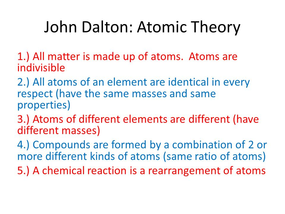 John Dalton: Atomic Theory