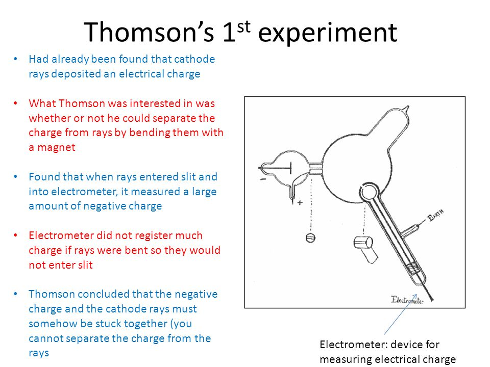 Thomson's 1st experiment