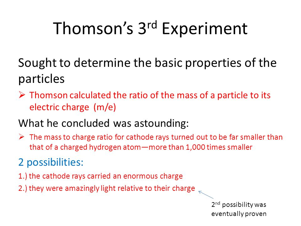 Thomson's 3rd Experiment