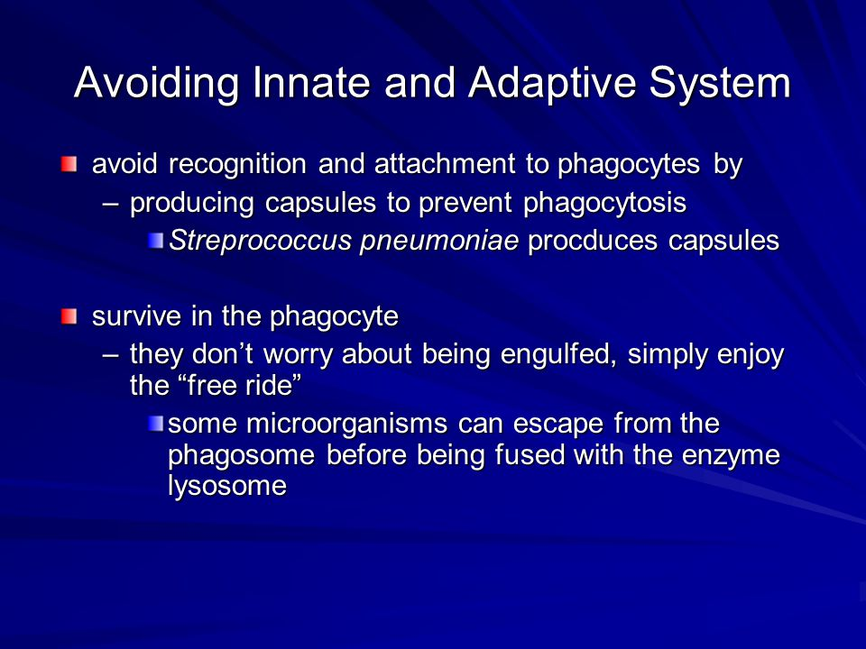 Avoiding Innate and Adaptive System