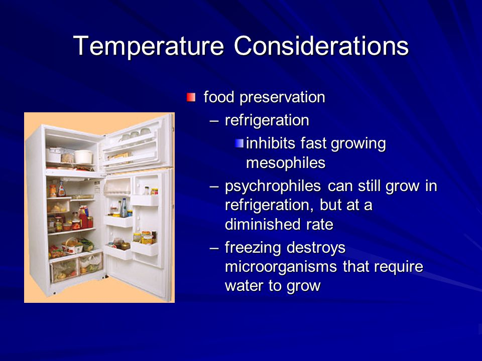 Temperature Considerations