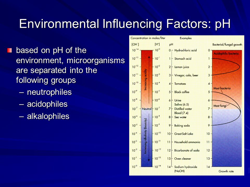 Environmental Influencing Factors: pH