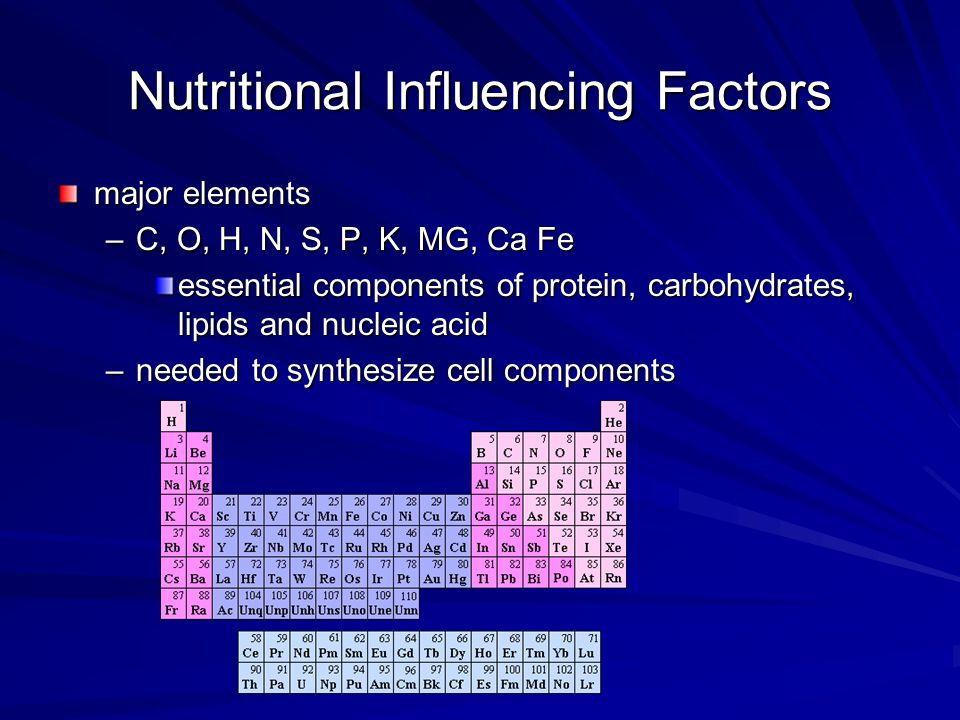 Nutritional Influencing Factors