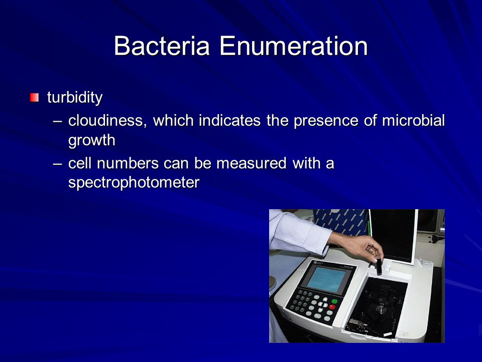 Bacteria Enumeration turbidity
