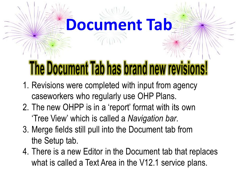 The Document Tab has brand new revisions!