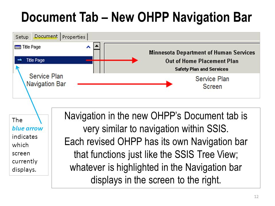 Document Tab – New OHPP Navigation Bar
