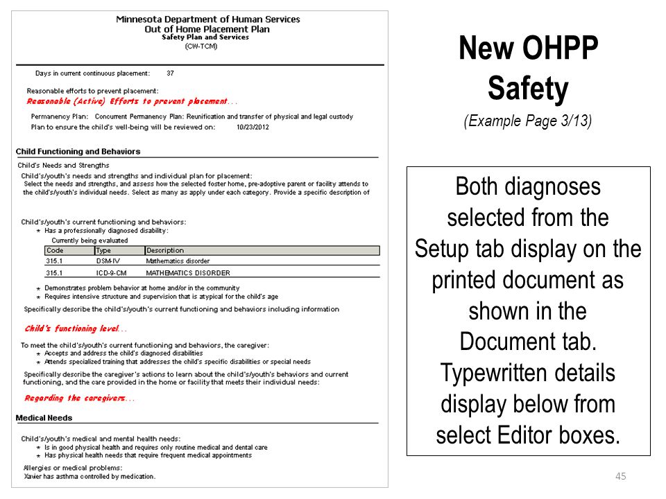 New OHPP Safety (Example Page 3/13)